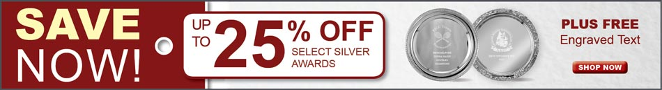 SALE! Up to 25% Off Silver Awards