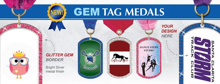 NEW GEM Tag Medals
