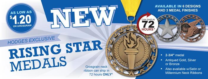 NEW Rising Star Award Medals
