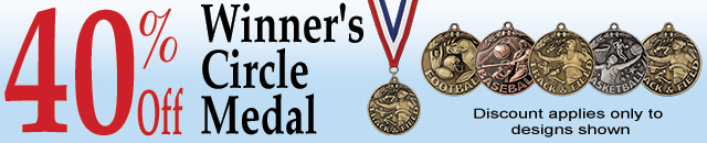 Save 40% Off Select Winner's Circle Medals