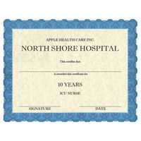 Full Color Custom Award Certificates - Classic Blue Design