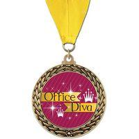 Full Color GFL Medal w/ Grosgrain Neck Ribbon