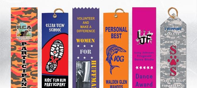 Custom Hot Stamped Flat Award Ribbons