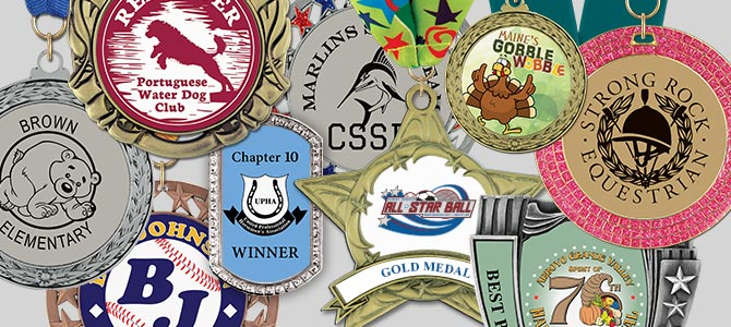 Custom Full Color Center Award Medals
