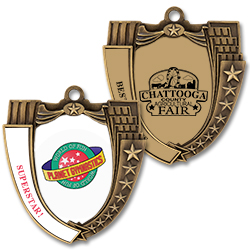 Mega Shield Full Color Award Medal