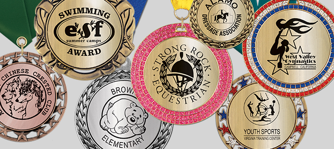 Custom Metallic Center Award Medals