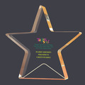 Full Color Gold Star Shimmer Acrylic Award Trophy