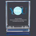 Acrylic Award Trophy w/ Blue Reflective Base