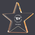 Gold Star Shimmer Acrylic Trophy