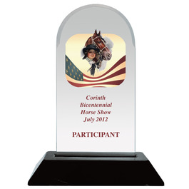 Full Color Arch Acrylic Horse Show Award