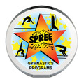 Full Color Round Acrylic Gymnastics Award