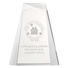 Engraved Pinnacle Acrylic Dog Show Award