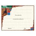 In-Stock Full Color Horse Theme Award Certificate - Barrel Racing Design