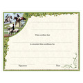 In-Stock Full Color Horse Theme Award Certificate - Combined Training Design