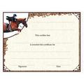 In-Stock Full Color Horse Theme Award Certificate - Equitation Design