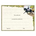 In-Stock Full Color Horse Theme Award Certificate - Extended Trot Design