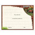 In-Stock Full Color Horse Theme Award Certificate - Horses in Field Design