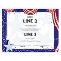 Custom Award Certificates - Patriotic Design