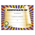 Full Color Stock Certificates - Scroll Design
