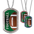 Full Color Football GEM Dog Tags