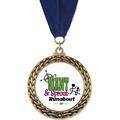 GFL Full Color Award Medal w/ Grosgrain Neck Ribbon