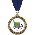 GFL Full Color Award Medal w/ Grosgrain Neck Ribbon
