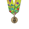 CX Award Medal w/ Multicolor Neck Ribbon