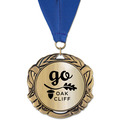 XBX Metallic Award Medal w/ Grosgrain Neck Ribbon