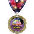 XBX Full Color Award Medal w/ Millennium Neck Ribbon