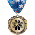 XBX Metallic Award Medal w/ Millennium Neck Ribbon