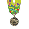 MX Award Medal w/ Multicolor Neck Ribbon
