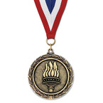 LX Award Medal w/ Red/White/Blue or Year Grosgrain Neck Ribbon