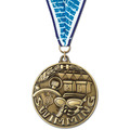 WC Winner's Circle Award Medal w/ Grosgrain Neck Ribbon