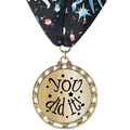 ST14 Star Metallic Award Medal w/ Millennium Neck Ribbon