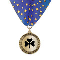 LFL Metallic Award Medal w/ Millennium Neck Ribbon