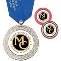 GEM Full Color Award Medal w/ Satin Neck Ribbon
