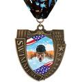 MS Mega Shield Full Color Award Medal w/ Millennium Neck Ribbon