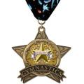 AS All Star Full Color Award Medal w/ Millennium Neck Ribbon