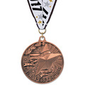 AC Achiever Award Medal w/ Red/White/Blue or Year Grosgrain Neck Ribbon