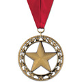 Rising Star Award Medal w/ Grosgrain Neck Ribbon