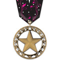 Rising Star Award Medal with Multicolor Neck Ribbon
