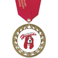 RS14 Full Color Award Medal w/ Satin Neck Ribbon