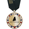 RSG Metallic Award Medal w/ Satin Neck Ribbon
