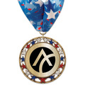 RSG Metallic Award Medal w/ Millennium Neck Ribbon