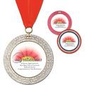 GEM Full Color Award Medal w/ Grosgrain Neck Ribbon