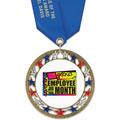 RSG Full Color Award Medal w/ Satin Neck Ribbon