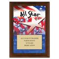 All Star Award Plaque - Cherry Finish