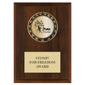 RS14 Full Color Medal Award Plaque - Cherry Finish