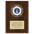 RSG Full Color Award Medal Plaque - Cherry Finish