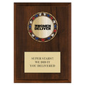 RSG Metallic Award Medal Plaque - Cherry Finish